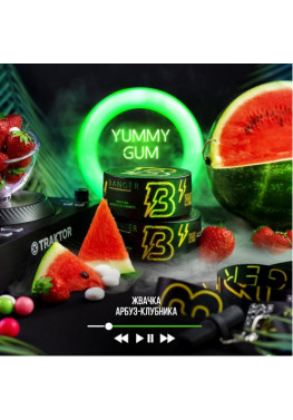 Тютюн Banger Yummy Gum (Жуйка Кавун Полуниця) - 100грам
