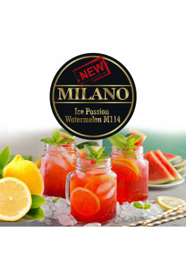 Табак Milano Ice Passion Fruit Watermelon M114 (Лед Маракуйя Арбуз) - 50 грамм