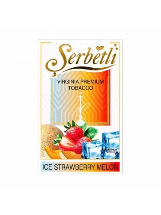 Табак Serbetli Ice Strawberry Melon (Лед Клубника Дыня) - 50 грамм