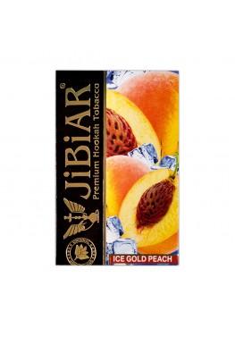 Тютюн Jibiar Ice Gold Peach (Лід Золотий Персик) - 50 грам