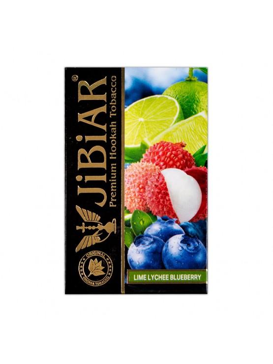 Тютюн Jibiar Lime Lychee Blueberry (Лайм Лічі Чорниця) - 50 грам