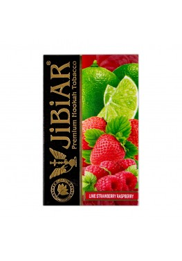 Тютюн Jibiar Lime Strawberry Raspberry (Лайм Полуниця Малина) - 50 грам