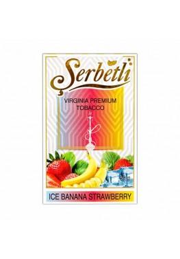 Тютюн Serbetli Ice Banana Strawberry (Лід Банан Полуниця) - 50 грам