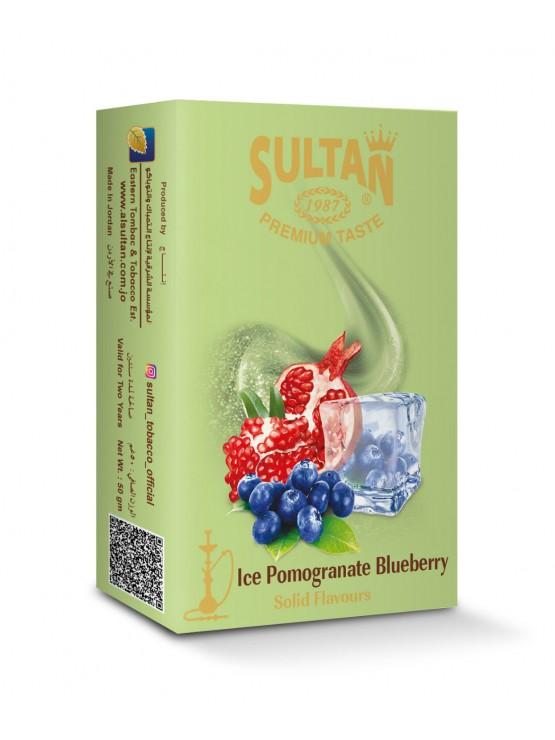 Табак Sultan Ice Pomegranate Blueberry (Лед Гранат Черника) - 50 грамм