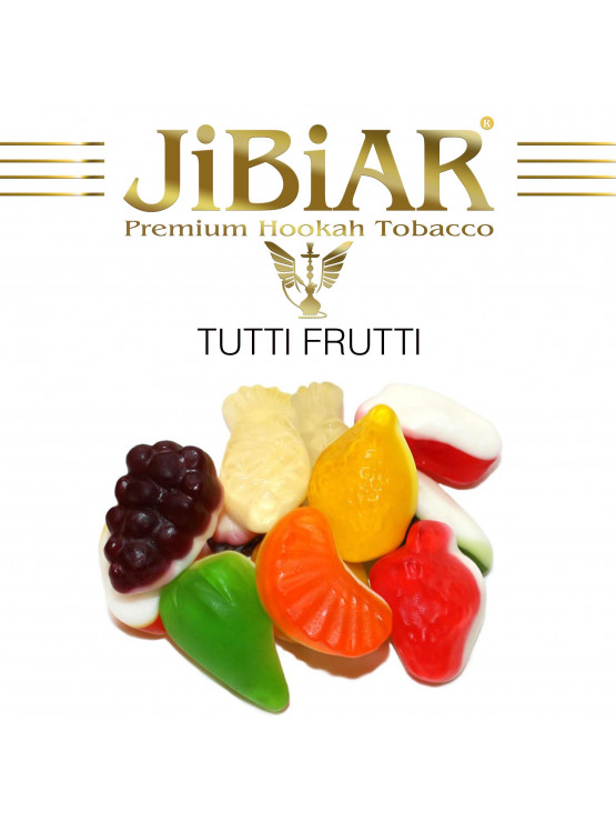 Табак Jibiar Tutti Frutti (Тутти Фрутти) - 100 грамм