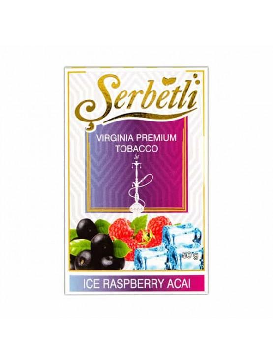 Тютюн Serbetli Ice Acai Raspberry (Лід Асаи Малина) - 50 грам