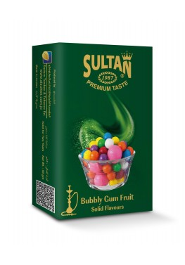 Табак Sultan Bubbly Gum Fruit (Фруктовая Сладкая Жвачка) - 50 грамм