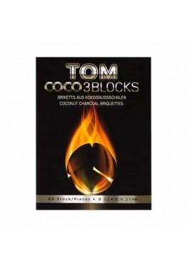 Вугілля кокосове Tom Cococha Silver 1кг (60 шт)